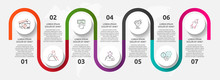 Vector Template Circle Infographics. Business Concept With 7 Options And Parts. Seven Steps For Content, Flowchart, Timeline, Levels. Path Step By Step