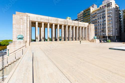 Stampa su Tela Argentina Rosario esplanade of the colonnade of the civic patio
