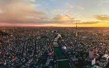Dramatic Sunrise Sky Of Tokyo ...