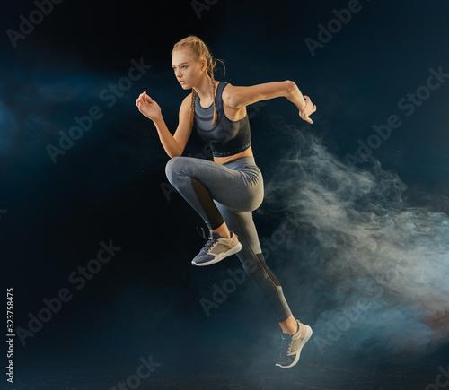 obraz PCV Girl is jogging