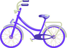 Bicycle Isolated  On Witch Background