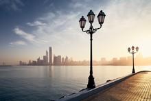 Cityscape Abu Dhabi At Sunrise