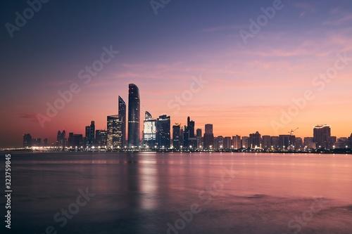 Photo Cityscape Abu Dhabi at sunrise