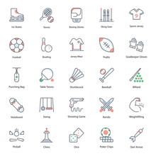 Sportswear Flat Icons Vector Pack