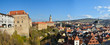 Panorama of Krumlov in the Czech Republic.
