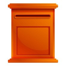 Letterbox Icon. Cartoon Of Let...
