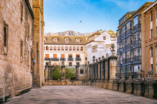 On the yard of the Cathedral of Jaen, Spain Canvas Print