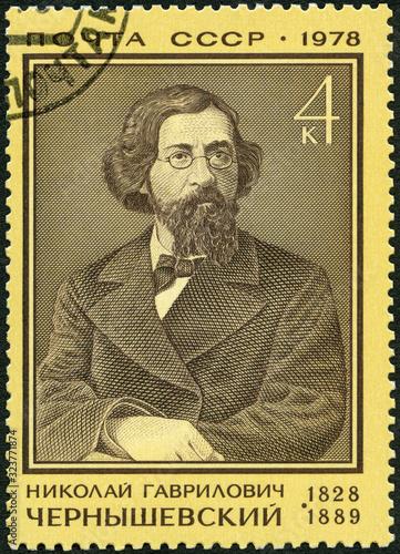 Valokuvatapetti USSR - 1978: shows Nikolai Gavilovich Chernyshevsky (1828-1889), revolutionary,