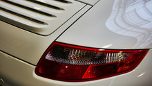 Closeup Of The Tail Lights Of ...