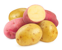 Yellow And Red Potatoes , Isol...