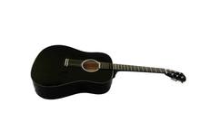 Black Guitar Isolated On White Background