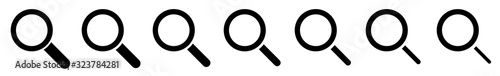 Magnifying Glass Icon Black | Magnifier Illustration | Zoom Symbol | Loupe Logo Wallpaper Mural