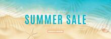 Summer Sale Horizontal Banner....