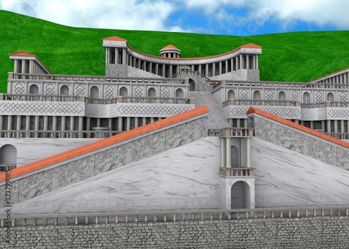 Fotografía Temple of the Goddess Fortuna Primigenea - Palestrina  - 3D