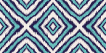 Blue Psychedelic Chevron Vector Seamless Pattern