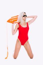 Pretty Young Woman Lifeguard I...