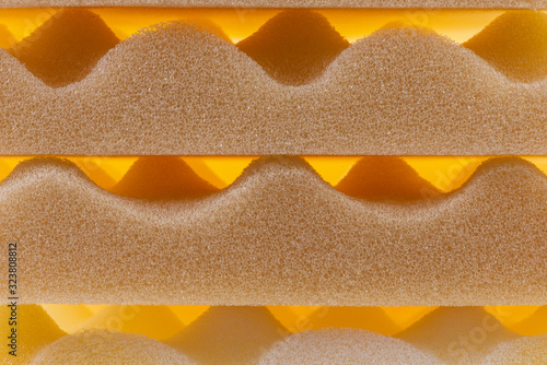 Side View of Polyurethane Foam Sponge Packing and Shipping Protection Wallpaper Mural