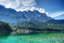 View From Eibsee To The Zugspi...