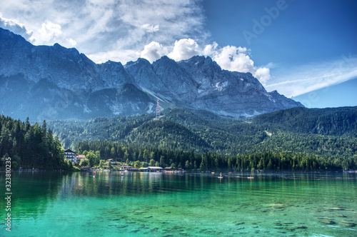 View from Eibsee to the Zugspitze Wallpaper Mural