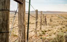 Fence Line Through The Plains ...