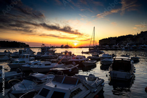 Croatia, Istria, Rovinj, Sunset Canvas Print