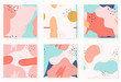 Set of abstract memphis background. Collection of abstract seamless patterns