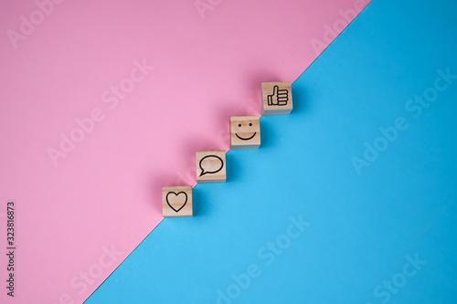 Fototapeta Rating for an online application  obraz na płótnie