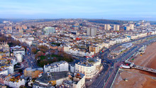 Brighton Pier In England - Aerial View -aerial Photography