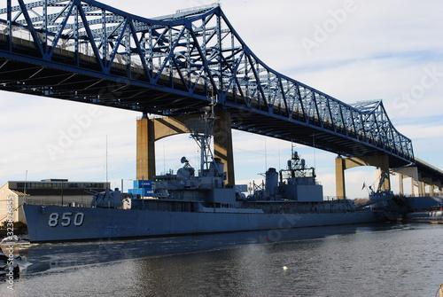 Fotografie, Tablou Battleship Cove Maritime Museum, Fall River Massachusetts January 2020