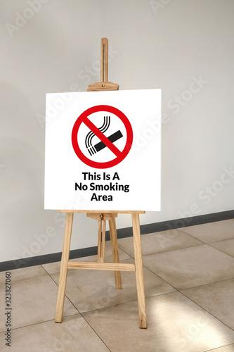 No smoking area sign Wallpaper Mural