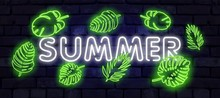 Summer Holiday Neon Sign. Neon...