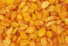 Closeup Of Golden Sultana Raisins
