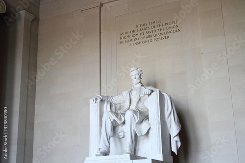 Abraham Lincoln Stsatue in Washington DC Canvas Print