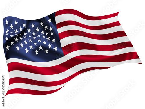 Fototapeta アメリカ  国旗 世界 アイコン obraz