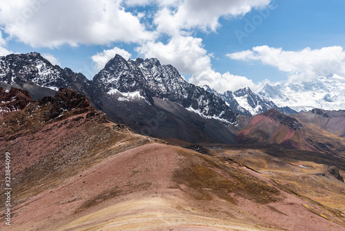 Amazing view of Andes Mountains Peru South America