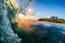 Ocean Wave Breaks Over The Cor...
