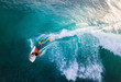 canvas print picture Surfer rides the ocean wave