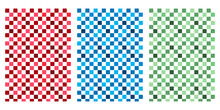 Japanese Colorful Checker Abst...