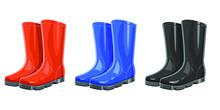 Rubber Garden Boots Vector Des...