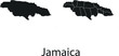 Jamaica vector maps with administrative regions, municipalities, departments, borders