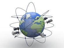 3d Illustration Space Satellit...