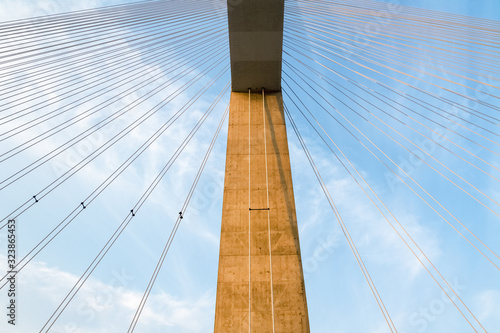 Fotografie, Obraz cable stayed bridge closeup