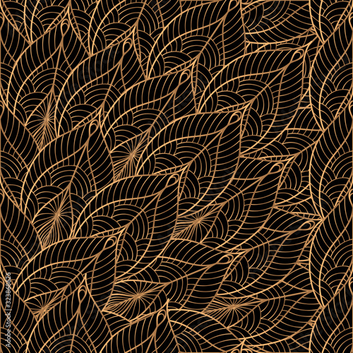 peacock-feathers-floral-royal-pattern-seamless-gold-black-luxury-background-vector-oriental