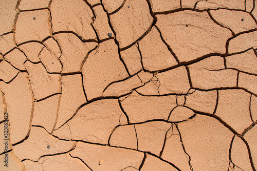 Valokuva Cracked, dry, parched ground in the Gobi Desert