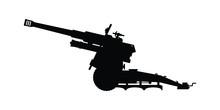 Modern Cannon Silhouette Vecto...