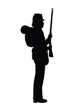 Civil War Soldier Troop Silhouette Vector