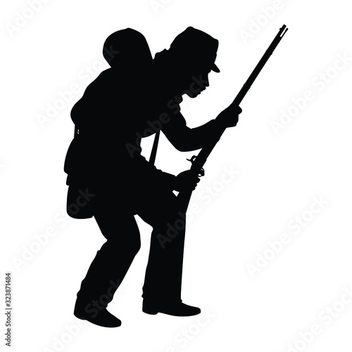 Fotografija Civil war soldier troop silhouette vector