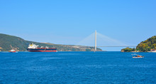 The Yavuz Sultan Selim Bridge, The Most Northerly Bridge Crossing The Bosphorus In Istanbul, Turkey. It Links Garipce, Sariyer On The European Side With Poyrazkoy, Beykoz On The Asian Side By The Entr