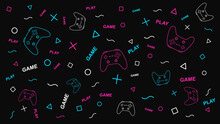 Game Background With Gamepad A...