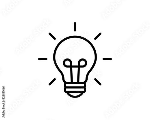 Light Bulb Logo Icon Vector Poster Mural XXL